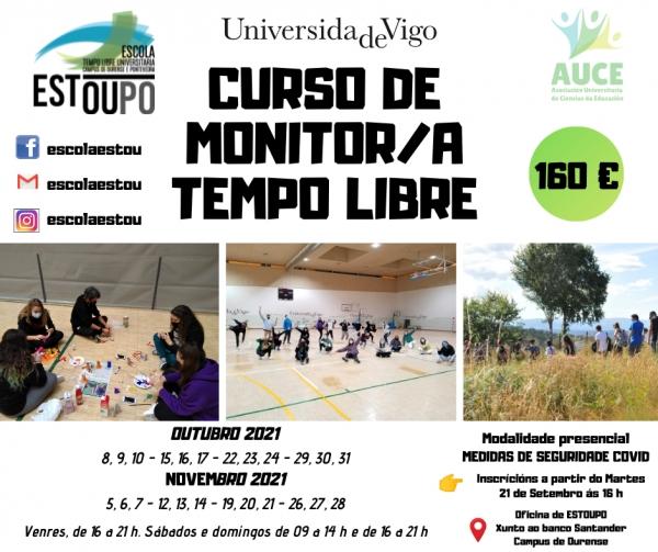 Curso en Ourense de Monitor/a de actividadesen tempo libre da Escola ESTOUPO