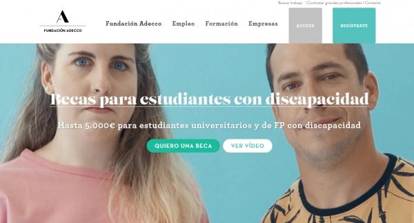I Convocatoria de Bolsas Fundación Adecco para as persoas con discapacidade