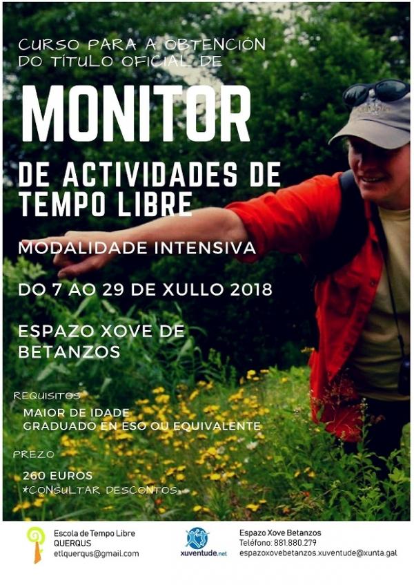 Curso intensivo de Monitores/as de actividades de tempo libre en Betanzos