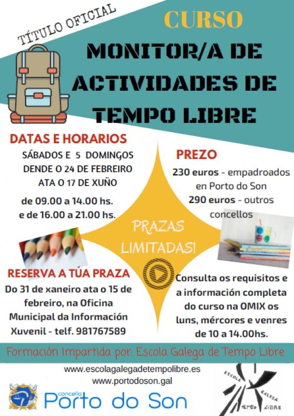 Curso de Monitor de actividades de tempo libre en Porto do Son