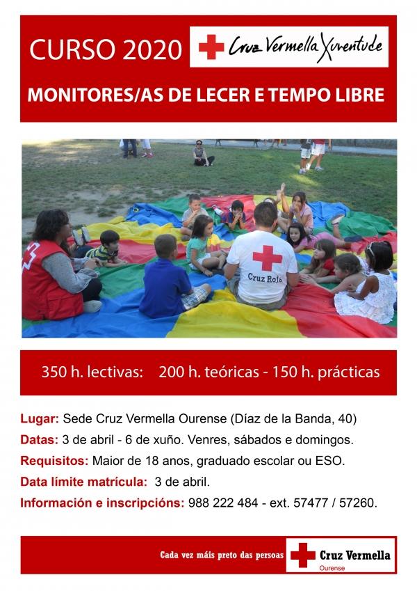 Curso de Monitor/a de actividades de tempo libre de Cruz Vermella en Ourense