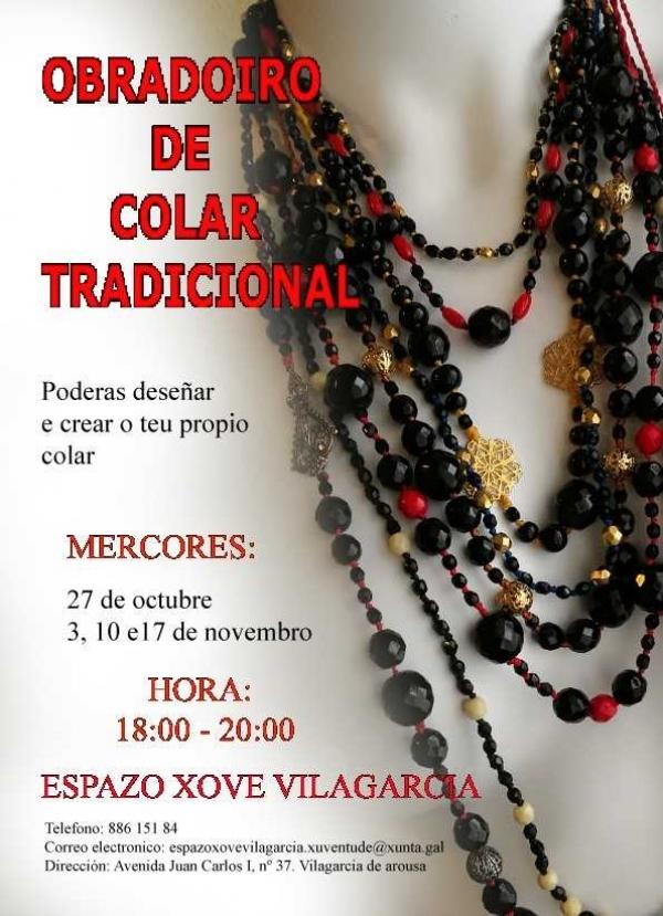 Obradoiro de colar galego tradicional no Espazo Xove de Vilagarcia