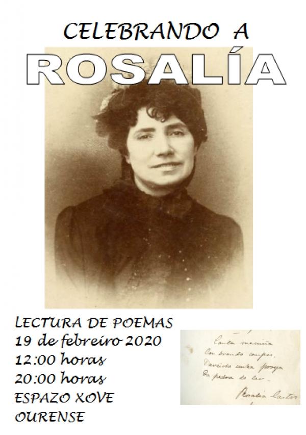Celebrando a Rosalía en Ourense