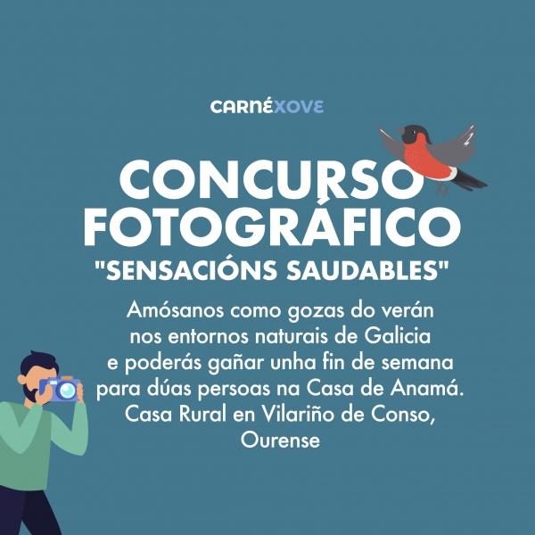 """Concurso Fotográfico """"Sensacións Saudables"""" co Carné Xove"""
