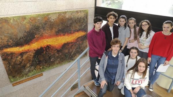 Premio para o IES Pontepedriña por un mural de cinza e terra
