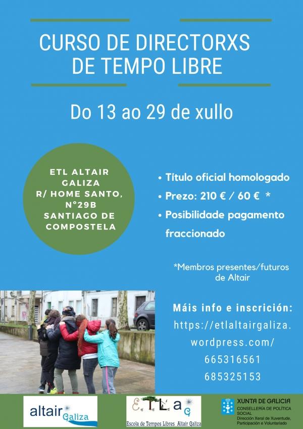 Curso intensivo de Director/a de actividades de tempo libre en Santiago de Compostela