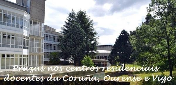 Prazas nos centros residenciais docentes da Coruña, Ourense e Vigo