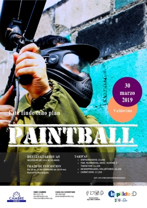 Cambre. Paintball na Lagoa