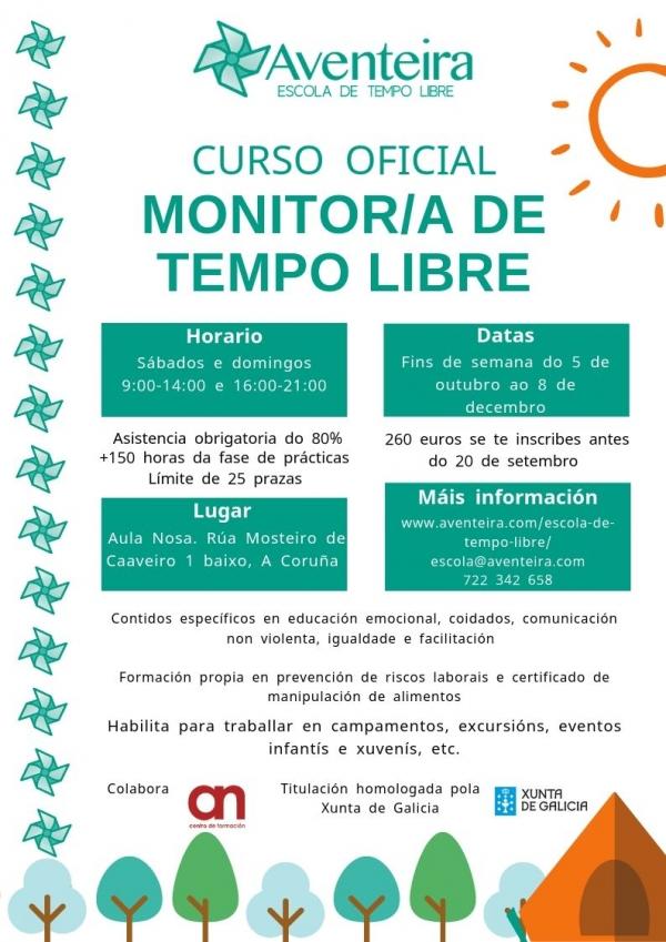 Curso de monitores/as de actividades de tempo libre na Coruña