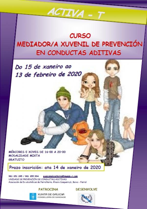 Curso mediador/a xuvenil de prevención en conductas aditivas
