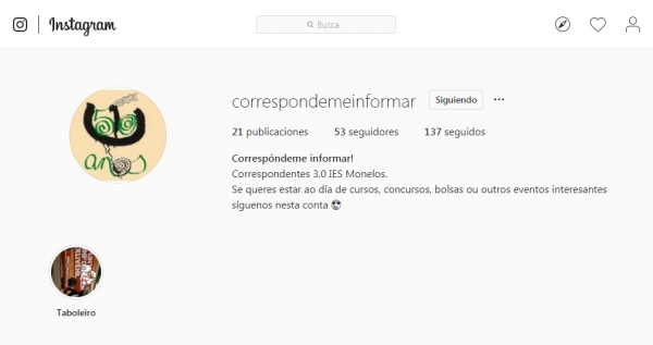 Correspondemeinformar desde o IES Monelos da Coruña