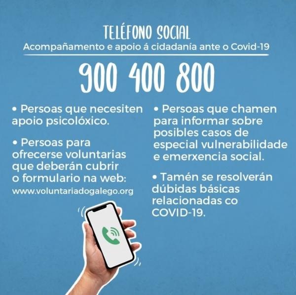 900 400 800. Teléfono Social
